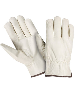 Grain Leather Cowhide Driver Gloves