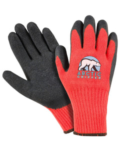 (12 Pairs) Arctic Gripper Fluorescent Orange Palm Coated Winter Glove
