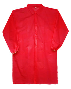 Disposable Polypropylene Red Lab Coats