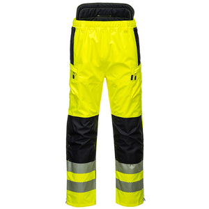 Class 2 Portwest PW3 Hi-Vis Extreme Rain Pants Yellow/Black