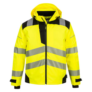 Class 3 Portwest PW3 Extreme Breathable Rain Jacket Yellow/Black