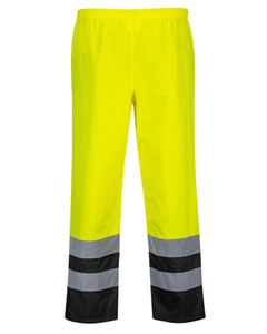 Class 3 Portwest Hi-Vis Yellow Two Tone Traffic Pants