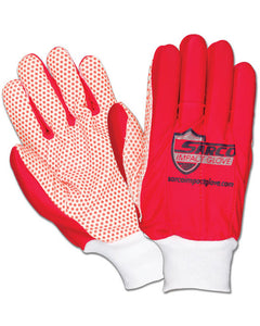 Sarco Medium Weight Red Impact Gloves with PVC Dots