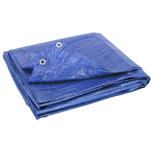 50' x 100' Blue Poly Tarps - Single