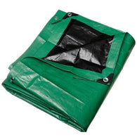 10' x 15' Heavy Duty Green/Black Poly Tarps