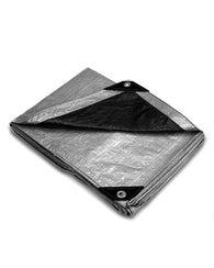 10' x 12' Heavy Duty Silver/Black Poly Tarp