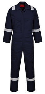 Portwest Navy Blue Flame Resistant Anti-Static Coveralls