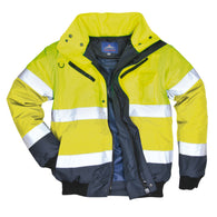 Class 3 Portwest Yellow Contrast Bomber 3-in-1 Jacket