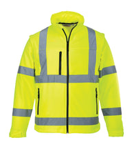 2-in-1 Class 3 Portwest Yellow Hi-Vis Softshell Jacket