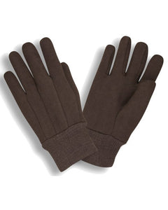 10 oz Men's Heavy Weight Cotton/Poly Brown Jersey Gloves