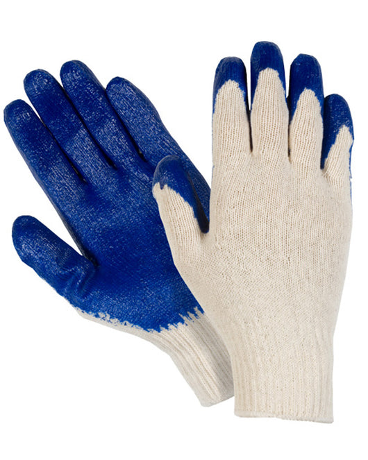 ... Blue Latex Palm Coated Gloves. Work Gloves