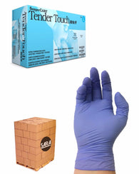 (20 Case/Quarter Pallet) Nitrile 2.4 mil Powder Free TenderTouch Disposable Gloves (40,000 Gloves)
