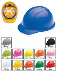 (12/CASE) Americana Hard Hat - Ratchet Adjustment with 4 Point Nylon Suspension