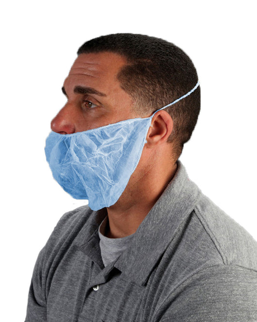 (1000/Case) Mens Disposable Polypropylene Beard Covers