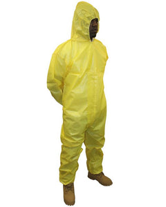 (25/Case) ProChem Zipper Front Coveralls w/ Attached Hood, Elastic Wrists & Ankles -Serged Seams