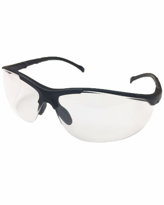 678efd1140f Venture 2 ANSI Z87 Black Frame Safety Glasses - Clear Lens ...