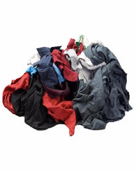 Colored Fleece Wiping Rags - 50 lbs per Case