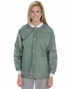 (10/Pack) Heavy Weight Disposable Lab Jackets - Neutrals