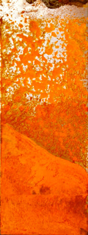 Rust Abstract Print On Aluminum,  Metal Oil Painting On Metal Yellow, Orange