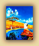 "Fine art Print landscape, Original oil painting, ""Kissing The Sky"" by artist Sasha T. Women in white"
