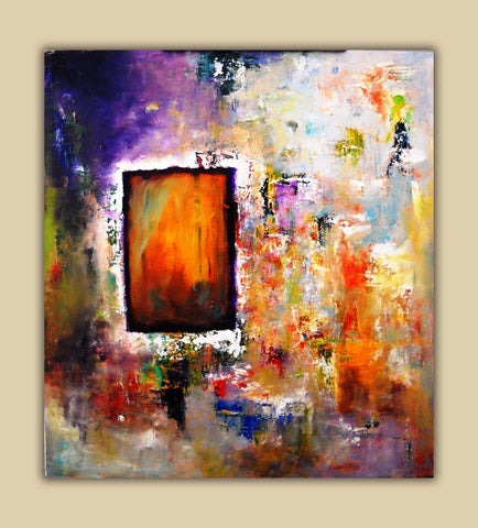 Abstract Art Print on Aluminum, Pallet Knife Art Painting, Fine Art Print, , Original Oil Painting