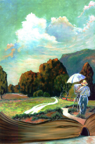 Original Acrylic Painting on Canvas - The Road Less Traveled - Impressionism, Robert Frost Poem