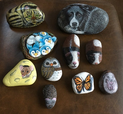 Anna Hatton - Introduction to painting animals on pebbles.