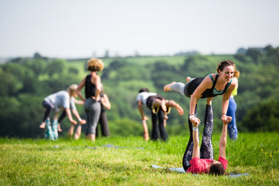 Yoga lovers at The Big Retreat Wales