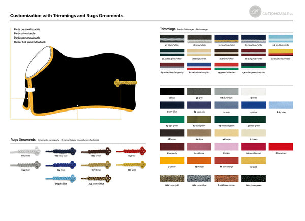 Equiline Rug Customisations