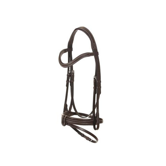 Bridle with anatomical headpiece and convex noseband by Limo Bits