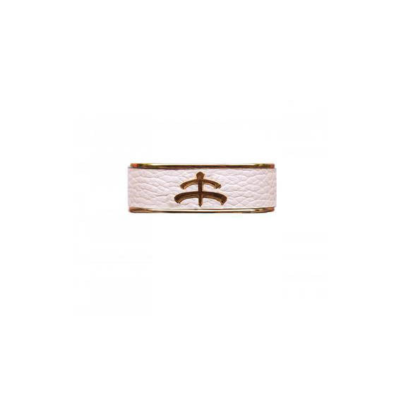 Leather and Brass Bangle by Makebe