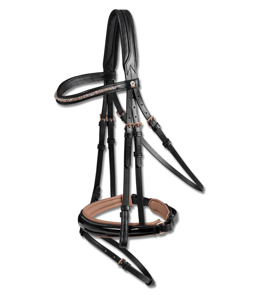 X-LINE Patent Leather Bridle Rosewood by Waldhausen