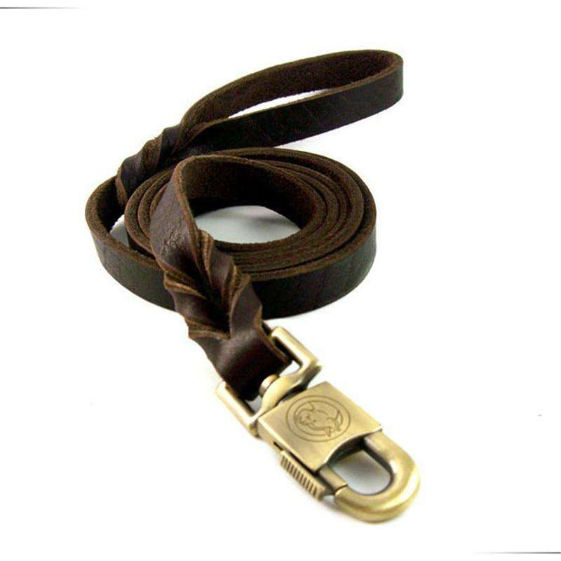 Beautiful Cowhide Leather Dog Leash