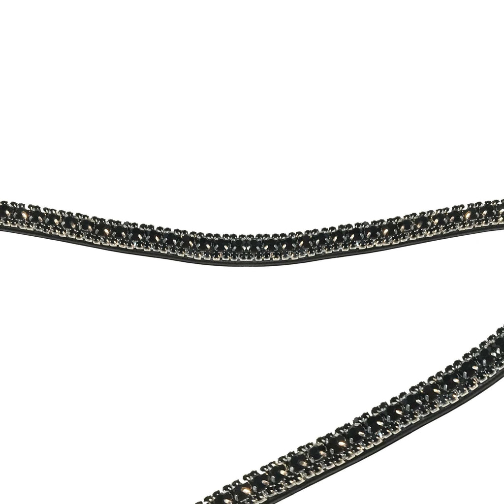 Browband Curved Passage All Black by Montar
