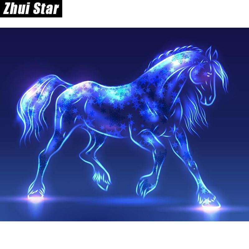 "Diamond Painting ""Fluorescent Horse"" Embroidery Mosaic"