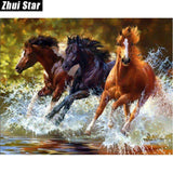 "Diamond Painting ""Horses"""