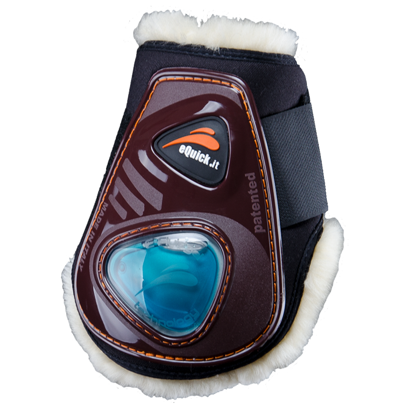 eShock Rear Fluffy Velcro Boots by eQuick