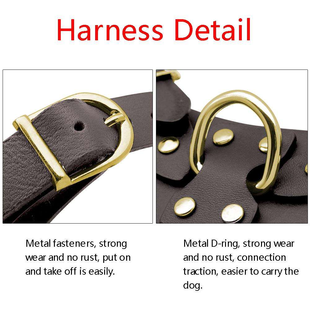 Genuine Leather Large Dog Harness