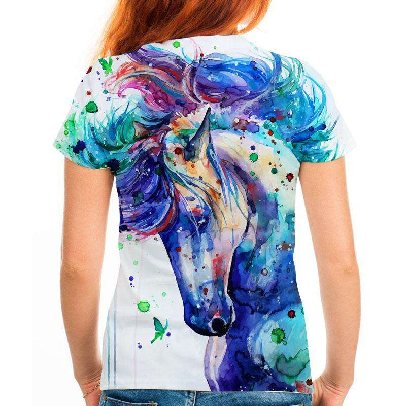 "Ladies T-shirt ""Painted Horse"""