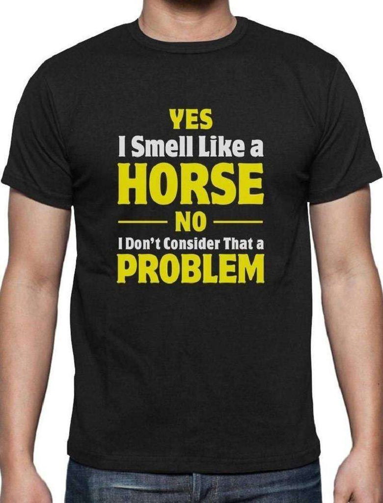 "Ladies T-shirt ""Smell Like A Horse"""