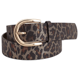 Leopard Leather Belt by Montar