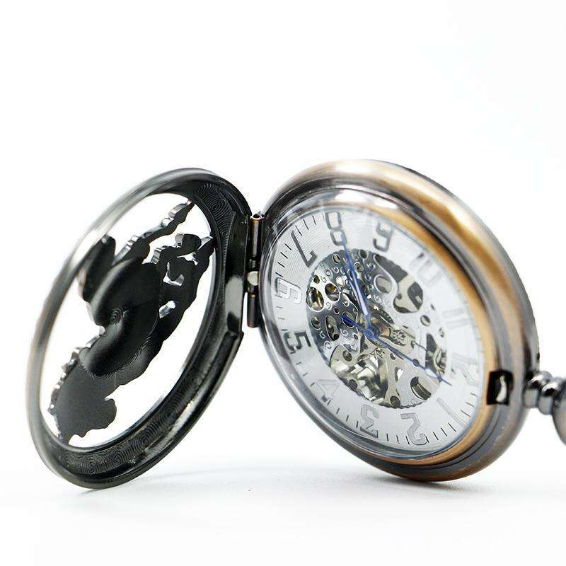 "Mens Clamshell Mechanical Pocket Watch ""Horse Gallop"""
