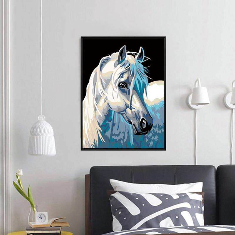 Paint by Numbers Modern Horse Painting