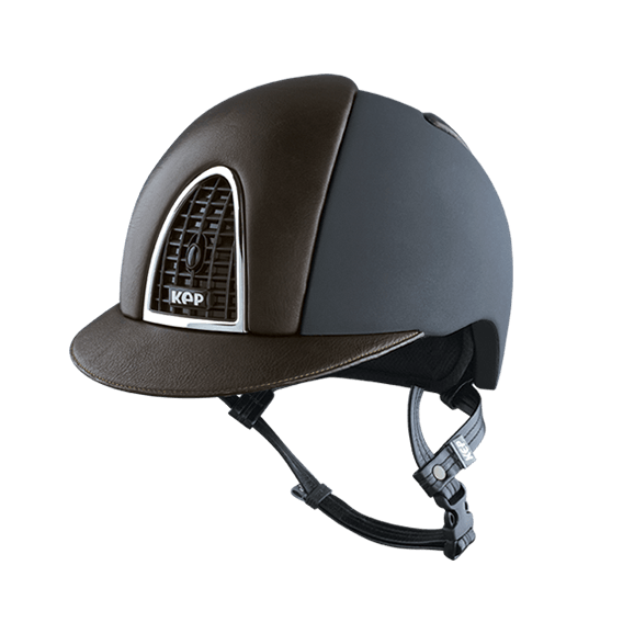 Riding Helmet Cromo Textile Leather by KEP