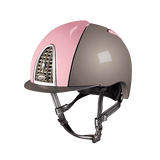 Riding Helmet XC Cross Shine Light Grey & Pink by KEP