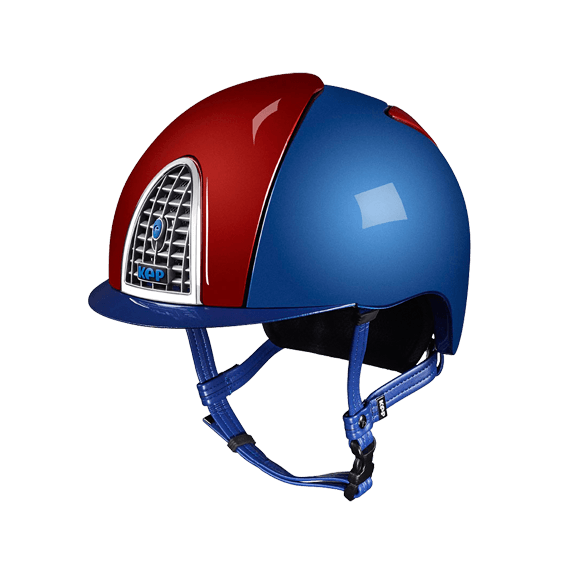 Riding Helmet XC Cross Shine Royal Blue & Red by KEP