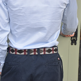 Silver Grey Double Stripe Polo Belt by Pioneros