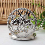 "Stunning Equestrian Pocket Watch ""Horse Carved Pendant"""