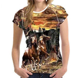 Stunning Ladies 3D Horse T-Shirts (Multiple Designs)