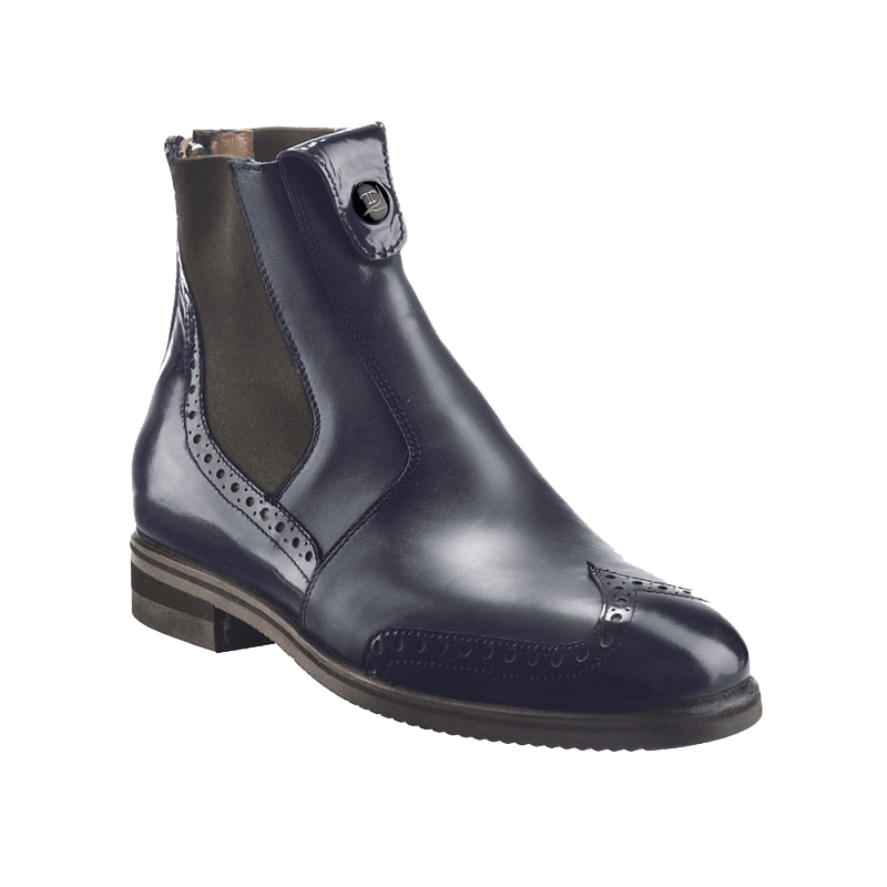 Tucci Short Boots Marilyn with Punched Patent Detail